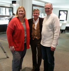 Gail Blackburn, Dan Moyer of Moyer Fine Jewelers, and Jay Blackburn. Gail won a pair of David Yurman Hoop Earrings.