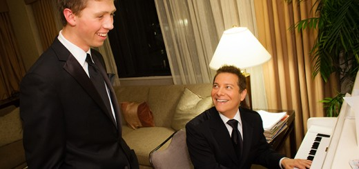 Nick Ziobro with Michael Feinstein. (Submitted photo)​