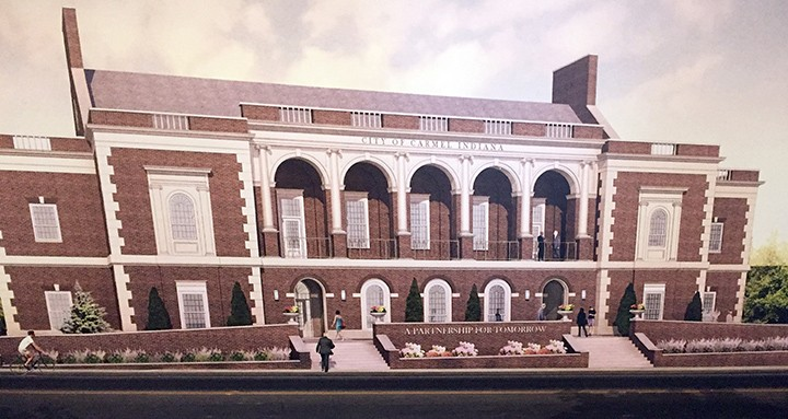 Dan Moriarity, principal and owner at Studio M, has created updated renderings of the new headquarters. (Photo by Adam Aasen)