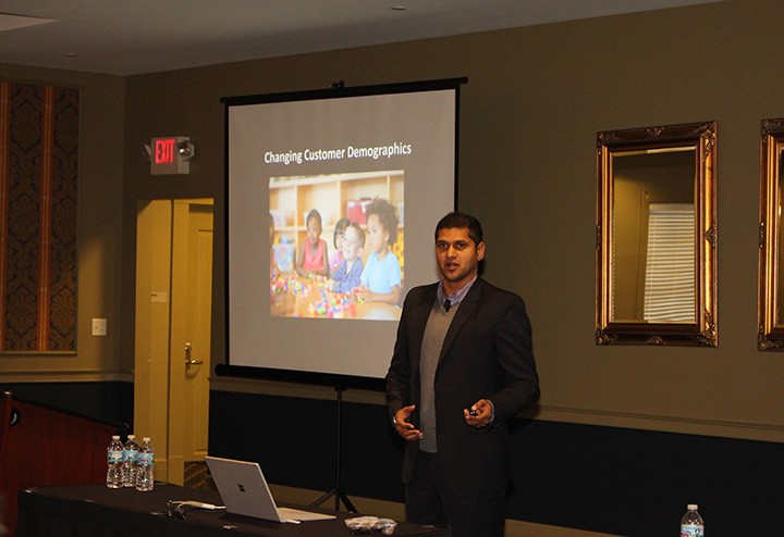Neelay Bhatt, an international parks management consultant and Carmel resident, speaks at the workshop. (photo by James Feichtner)