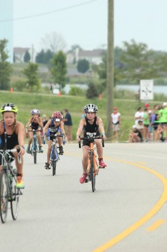 The Carmel Swim Club's sprint triathlon includes a 10-mile bike ride. (submitted photo)