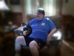 He weighed 385 pounds before starting program. (Submitted photos)