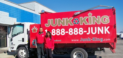Julius and Jacqueline McQueen have opened the first Indiana Junk King franchise on North by Northeast Boulevard in Fishers. (Photo by Sam Elliott)