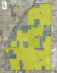The yellow on the map shows which of the property owners within the proposed conservancy boundary oppose the conservancy. According to local homeowners, 71 percent oppose the conservancy. (Submitted photo)