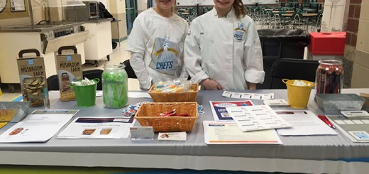 Cassie Echlemeier, left, and Ava Reinking participated in the health fair with the student nutrition booth. (Photos by Anna Skinner)