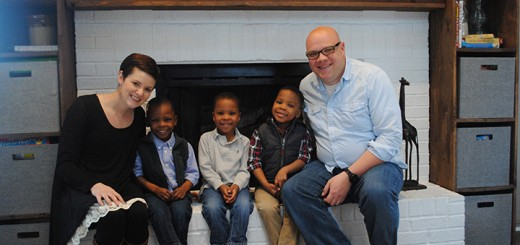 From left, Lauren, Sawyer, Asher, Micah and Joel Wright in their Westfield home. (Photo by Anna Skinner)