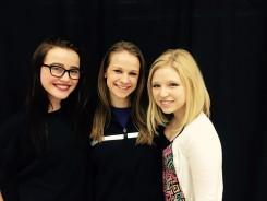 From left, Betsy Sandifer, Emily Urbanski, and Ashley Otero. (Photo by Mark Ambrogi)