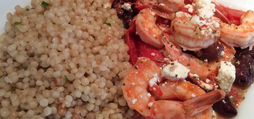 Mediterranean shrimp with couscous is a quick, easy dish. (Photo by Ceci Martinez)