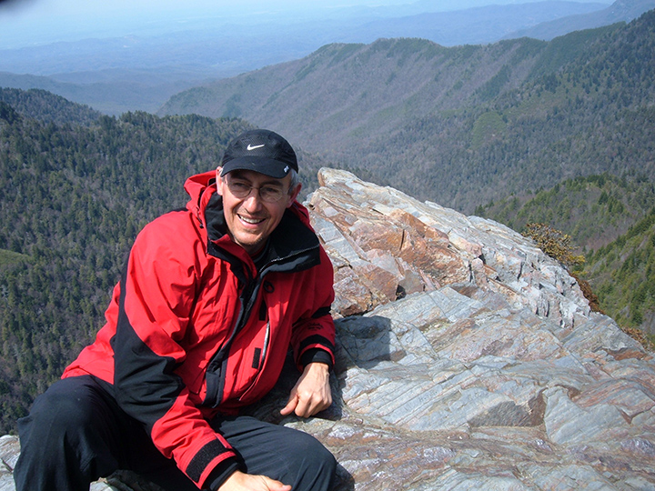 Mark Stuttgen hiking the Appalachian Trail. (Submitted photo)