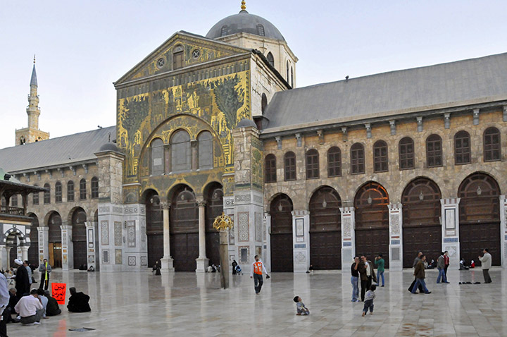 Great Mosque of Damascus with Jesus Minaret. (Photo by Don Knebel)