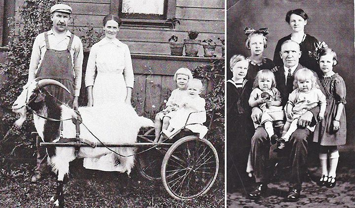 The Gustav and Elin Hultgren Family. (Submitted by Don Knebel)