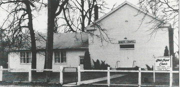 White Chapel was built as a home church for circuit-riding preacher Jacob White in the 1850s. (Photo courtesy of Carmel Clay Historical Society)