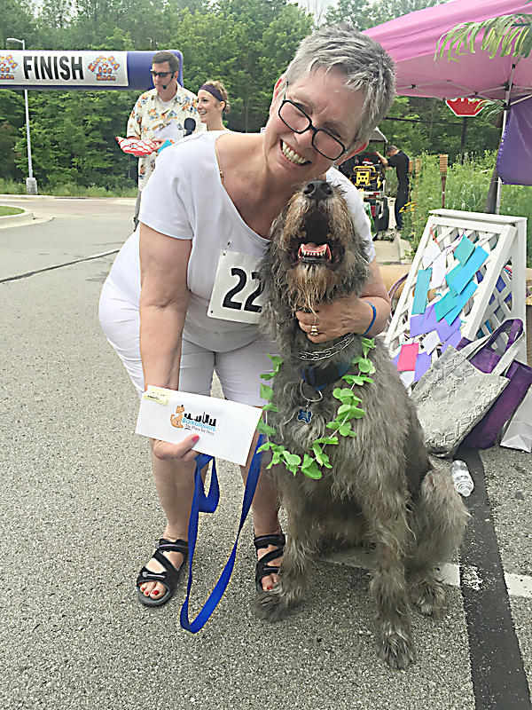 Carol Romine and Gertie were winners of the lookalike contest at the 2015 Bow Wow Luau. (Submitted photo)