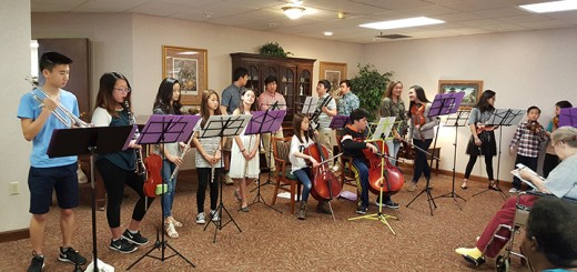 The Sounds of Hope orchestra performs at a nursing home. (Submitted photo)