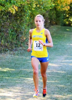 Stacy Morozov competes in cross country, track and field and swimming for Carmel High School. (Submitted photo)