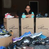 Kamna Gupta, a senior at Carmel High School, has collected more than 2,800 pounds of shoes for people in need. (Submitted photo)