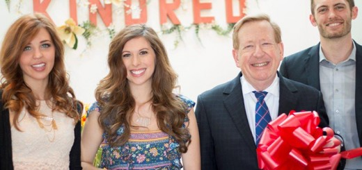 Employee Jenni-Rae Ventling, owner Christie Wright, Mayor Jim Brainard, and co-owner Caleb Wright at the new store Kindred. (Submitted photo by Brandon Ventling)