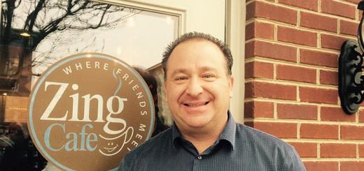 David Klain, owner of Zing Café. (Photo by Mark Ambrogi