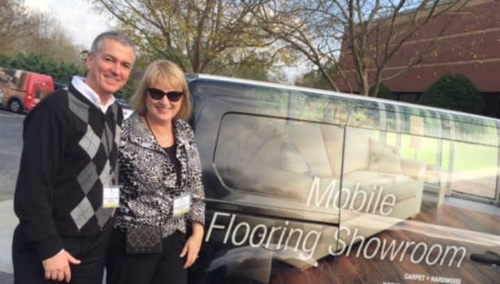 """Greg and Ann Beriault, Carmel, opened Flooring Coverings International on April 18. """"We'll come to people's homes and consult,"""" Ann said. (Submitted photo)"""
