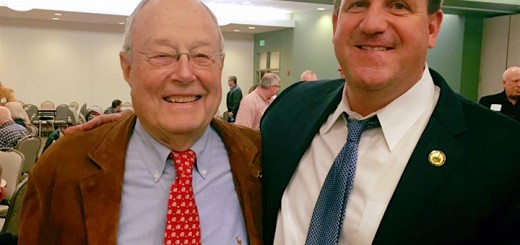 Jim Dillon, left, with Hamilton Co. Commissioner Mark Heirbrandt after being elected to the vacant Hamilton Co. Council seat. (Submitted photo)