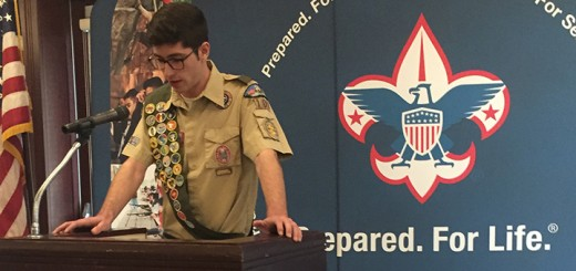 Eagle Scout Alec Brooks spoke on reasons as to why scouting is so important in shaping a young boy's life at the 11th annual Westfield Mayor's Breakfast for Scouting. (Photo by Anna Skinner)