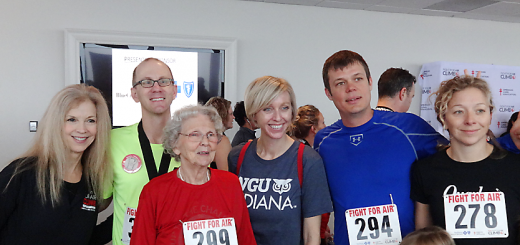 From left, Tanya Husain, executive director of the American Lung Association of Indiana, Joel Tragesser, Mary Lewis, Kirsten Tragesser, Stan Klos and Kristen Gentry at the Fight for Air Climb. (Submitted photo)