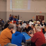 Approximately 300 competitors attend the biannual poker tournaments put on by the Westfield Lions Club. (Photo by the Westfield Lions Club)