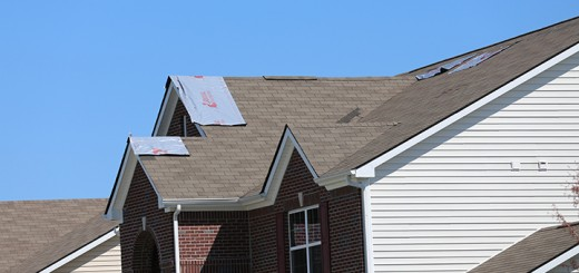 A Whitestown  home received damage from the April 2 wind storm, like many others in the area. (Photo by Ann Marie Shambaugh)