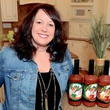 KC Cranfill of Zionsville is co-founder of Hoosier Momma, which makes Bloody Mary mixes. (Photo by Theresa Skutt)