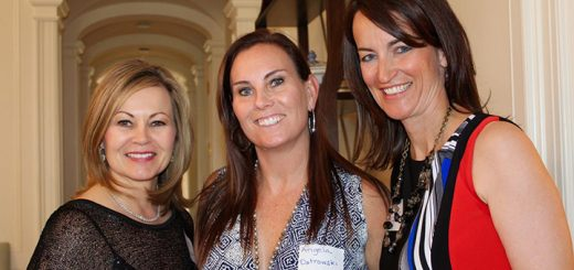 Hats off to Co Chair Deb Maar (Geist), Christamore House Guild President Angela Ostrowski (Geist) and Co-chair Paige Button (Indianapolis) for a successful night with books, authors and elegance. (Photos by Amy Pauszek for Current Publishing LLC. Copyright 2016. All Rights Reserved.)