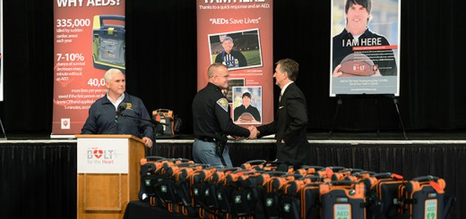 Supt. of Indiana Police Doug Carter with Pierre Twer. (Photos by Theresa Skutt)