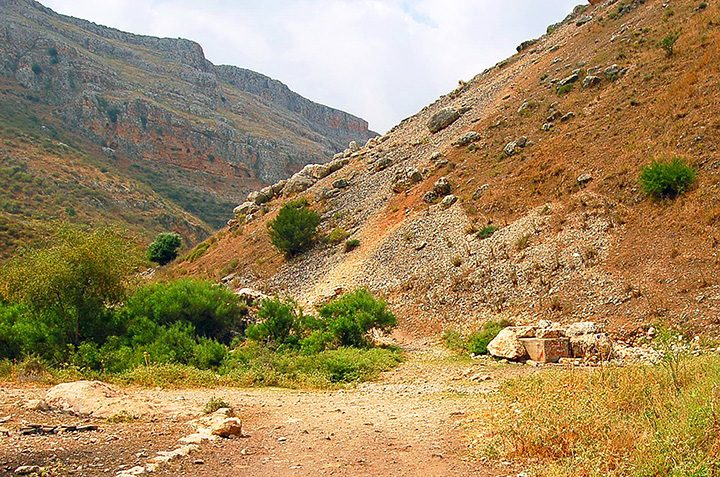 Road to Nazareth, through Israel's Arbel Pass (Photo by Don Knebel)