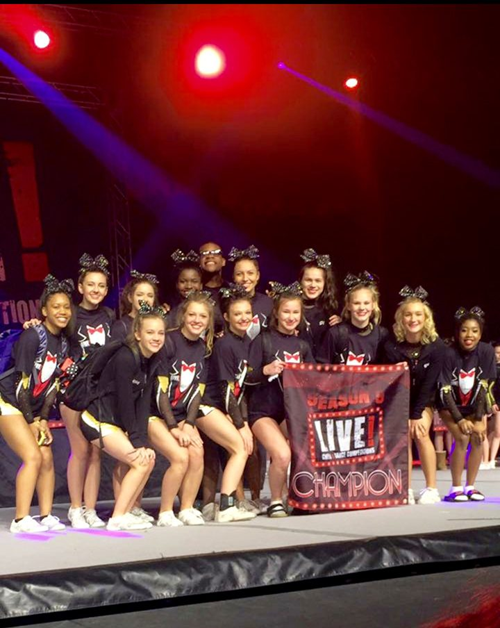 The Hollywood All Stars Cheer Team will compete in the Global Dance and Cheer Games in June in Hawaii. (Submitted photo)