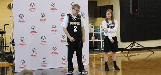 Mitch Bonar, left, and Abby Abel helped organize a unified basketball tournament at Purdue University. (Submitted photo)
