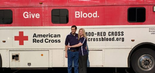 Derek Fakehany and Amy Van Ostrand at a blood and bone marrow donation drive held May 5. (Submitted photo)