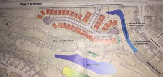 Many Plum Creek Farms residents have expressed concern after seeing plans for 40 new homes near the golf course. (Submitted photo)