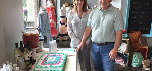 On April 23, Endeavor Boutique, 846 S. Range Line Rd., held a grand opening. Snacks and wine were available, and visitors had an opportunity to win a $25 gift card to the boutique. Linda and George Monninger, parents of the owners, flew in from Utah. (Photos by Anna Skinner)