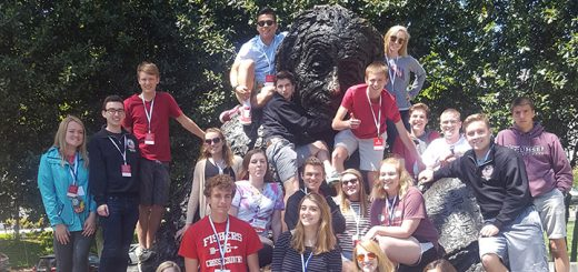 The Fishers High School We the People Team visited a collection of Washington D.C. sights, including the Albert Einstein Memorial, while in the nation's capital for the We the People national finals. (Submitted photo)
