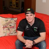 Conor Daly in the home he shares with fellow racecar driver and friend James Hinchcliffe. (Photo by Theresa Skutt)