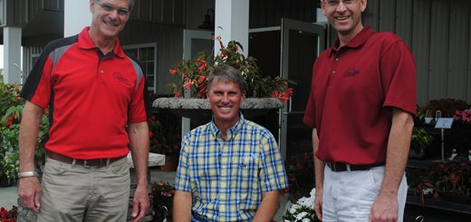 From left, Todd Erb, Brian Kirchner and Joe Russ, who opened the Sundown Gardens garden center in Westfield. (Photo by Anna Skinner)