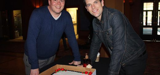 """Where's Amy celebrated """"Phantom"""" Chris Mann's birthday with Matthew Porter, director of public relations for PNC Broadway in Indianapolis and Louisville."""