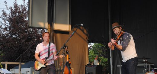 Rick Stump, left, andNathan Klatt from the band My YellowRickshaw.MyYellow Rickshawperformed at theMarket District North Zone Stage during CarmelFest last summer and will perform again this year at CarmelFest. (File photo)