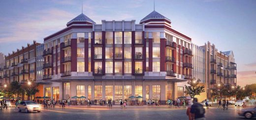 Kite Realty released plans to transform the southwest corner of 116th Street and Range Line Road into a mixed-use development. (Submitted rendering)