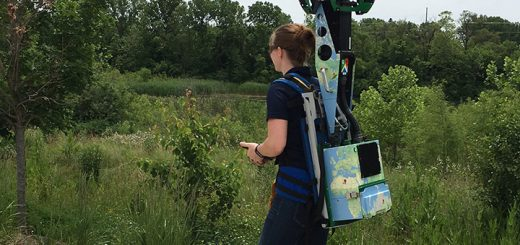 CCPR Marketing Director Lindsay Labas uses the Trekker in a Carmel park. (Submitted photo)