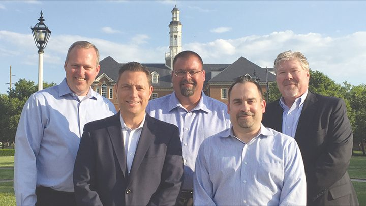 Board members of the Earl D. Hoover Memorial Golf Tournament for Charities include, from left, Ken Schafer, Mike Hoover, Lance Fettig, Roy Lederman and Tom Foster. (Submitted photo)