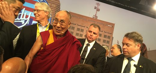 The Dalai Lama spoke at the U.S. Conference of Mayors on June 26 in Indianapolis. (Photo by Adam Aasen)