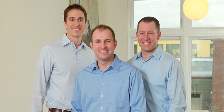From left, Nick Smarrelli, CEO, Joe Gadell, founder and CTO, and Tom Stemm, CSO. These three leaders are the co-owners of GadellNet. (Submitted photo)