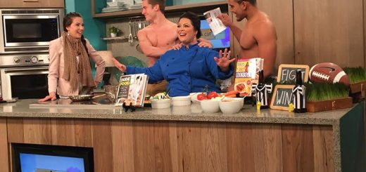 Amy von Eiff, center, during one of her televised cooking segments. (Submitted photo)