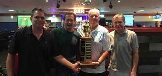 The team from Boomerang Development successfully defended its 2015 championship at this year's 16th annual Meals on Wheels of Hamilton County Strike Out Hunger Bowl-a-Thon presented in part by Honey- Baked Ham. The winner team included, from left, Greg Vescovi, Corby Thompson, Steve MacDonald and Jeff Thompson. (Submitted photos)