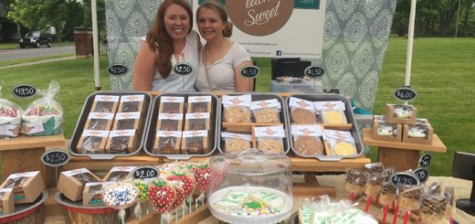 Owner Amy Bannister, left, and Kaylah Heaton work the booth of Savor Each Sweet.